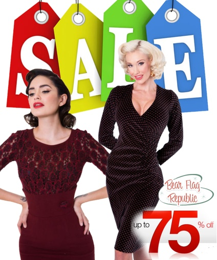 Time to make room! Save up to 75% on Vintage Inspired clothing from all your favorite designers