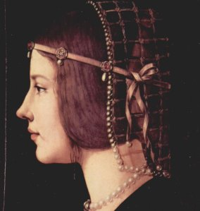 Giovanni Ambrogio de Predis' Portrait of a Lady from 1490