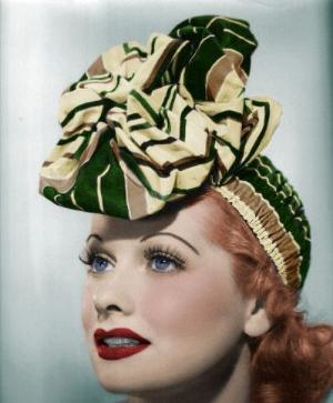 Lucy in 1941, later her and Ethel would have to do perpetual splainin'  or buying too many hats!